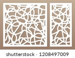 set template for cutting.... | Shutterstock .eps vector #1208497009