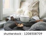 cozy autumn morning breakfast...   Shutterstock . vector #1208508709