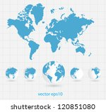 world map | Shutterstock .eps vector #120851080
