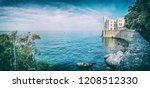miramare castle near trieste ... | Shutterstock . vector #1208512330