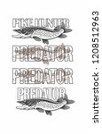 pike fish image | Shutterstock .eps vector #1208512963