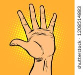 hi five hand gesture. comic... | Shutterstock .eps vector #1208514883
