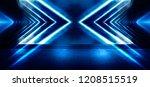 background of empty dark room ... | Shutterstock . vector #1208515519