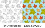 autumn maple leaf seamless... | Shutterstock .eps vector #1208529280