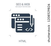 html icon. high quality filled... | Shutterstock .eps vector #1208529826