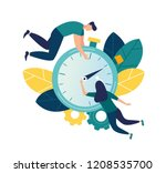 vector illustration  stopwatch... | Shutterstock .eps vector #1208535700