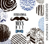 happy intarnational  menr's day....   Shutterstock .eps vector #1208536450