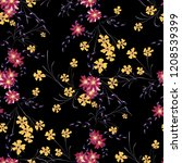 small floral seamless pattern... | Shutterstock .eps vector #1208539399