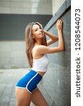 beautiful young sexy girl... | Shutterstock . vector #1208544073