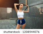 beautiful young sexy girl... | Shutterstock . vector #1208544076