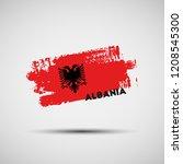 flag of albania. vector...   Shutterstock .eps vector #1208545300