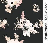 seamless floral pattern.... | Shutterstock .eps vector #1208547529