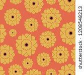 vector orange flowers. spenlows.... | Shutterstock .eps vector #1208548213
