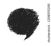 speech bubble black grunge hand ...   Shutterstock .eps vector #1208555200