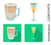 vector design of drink and bar... | Shutterstock .eps vector #1208555470