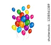 group of colorful helium... | Shutterstock .eps vector #1208561389