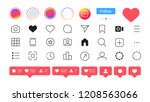 instagram. social media icon... | Shutterstock .eps vector #1208563066