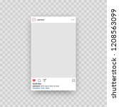 instagram. social media photo...   Shutterstock .eps vector #1208563099