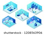 medical clinic infographics... | Shutterstock .eps vector #1208563906