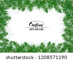 fir branches. template for... | Shutterstock .eps vector #1208571190