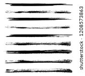 vector set of grunge brush... | Shutterstock .eps vector #1208573863