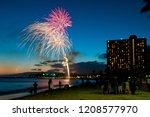 Waikiki Sunset Fireworks