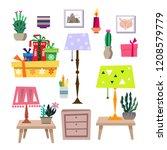 big set of vintage elements ...   Shutterstock .eps vector #1208579779