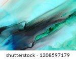 hand painted ink texture....   Shutterstock . vector #1208597179