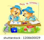 fantasy illustration of cute... | Shutterstock .eps vector #1208600029