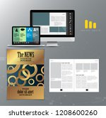 layout easy to editable  vector | Shutterstock .eps vector #1208600260
