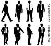 set silhouette businessman man... | Shutterstock .eps vector #1208600650