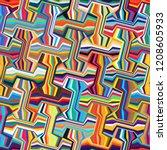 abstract seamless pattern.... | Shutterstock .eps vector #1208605933