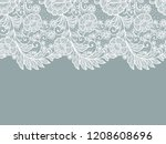 seamless  flowers decoration... | Shutterstock .eps vector #1208608696