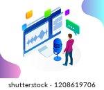 isometric speech recognition ... | Shutterstock .eps vector #1208619706