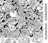 cartoon vector doodles diet... | Shutterstock .eps vector #1208620069