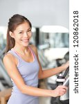 fitness woman in gym training... | Shutterstock . vector #120862018
