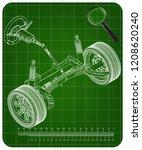 3d model of steering column and ... | Shutterstock .eps vector #1208620240