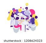 vector business illustration. a ... | Shutterstock .eps vector #1208624323