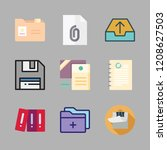 file icon set. vector set about ... | Shutterstock .eps vector #1208627503