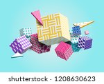 abstract geometric background... | Shutterstock .eps vector #1208630623