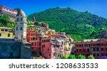 picturesque town of vernazza ...   Shutterstock . vector #1208633533