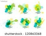 watercolor splatters. vector...