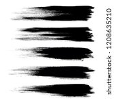 vector set of grunge brush... | Shutterstock .eps vector #1208635210