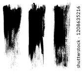vector set of grunge brush...   Shutterstock .eps vector #1208635216