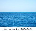 red sea and blue sky  egypt | Shutterstock . vector #120863626