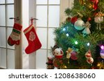 beautifully decorated christmas ... | Shutterstock . vector #1208638060