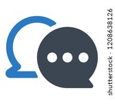 chat bubble icon   Shutterstock .eps vector #1208638126