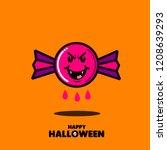 set of halloween element.... | Shutterstock .eps vector #1208639293