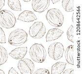 coconut seamless pattern  vector | Shutterstock .eps vector #1208642566