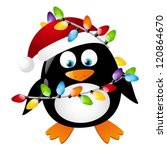 Penguin With Christmas Light...